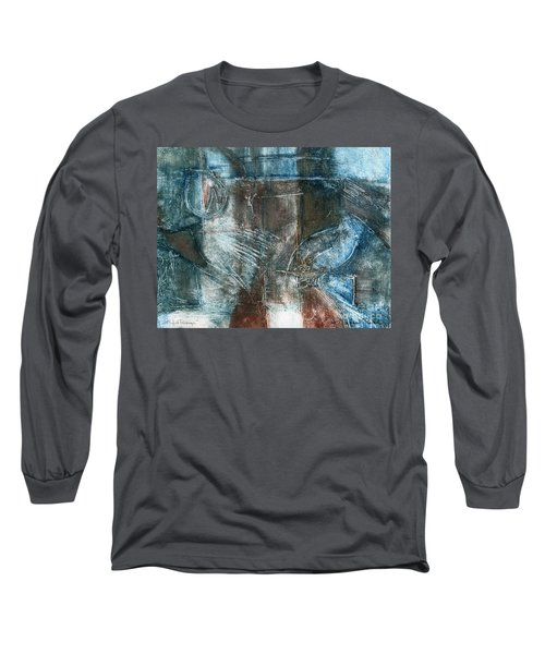 Long Sleeve T-Shirt featuring the drawing Flight Passage by Kerryn Madsen- Pietsch