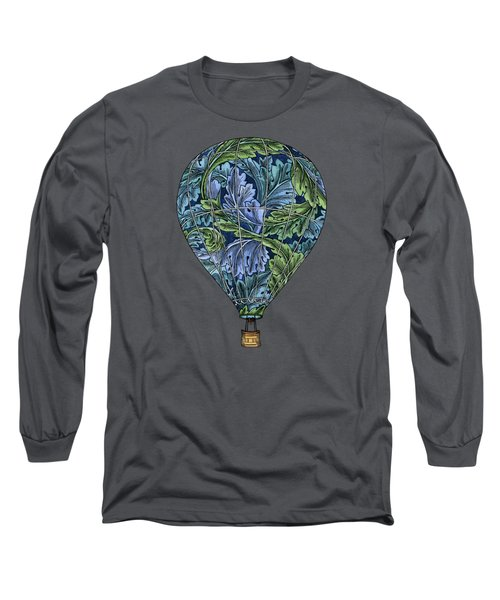 Long Sleeve T-Shirt featuring the painting Flight Pattern by Meg Shearer