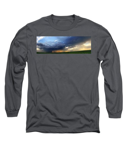 Flint Hills Storm Panorama 2 Long Sleeve T-Shirt