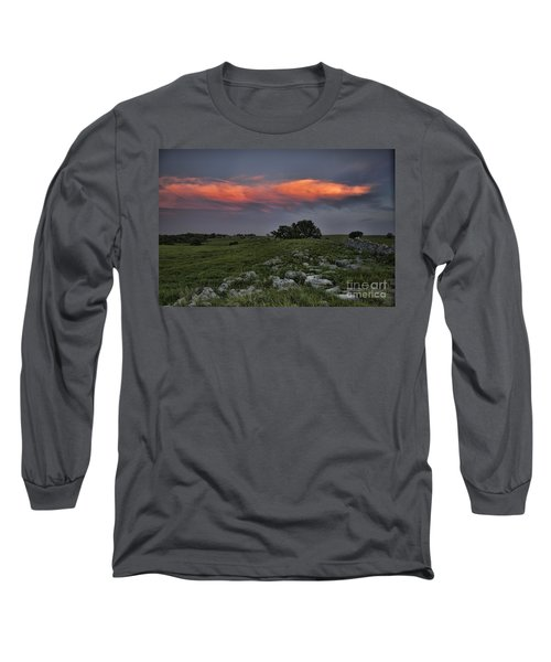 Flinthills Sunset Long Sleeve T-Shirt