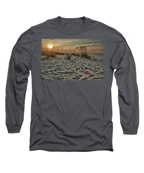 Flipflops On The Beach Long Sleeve T-Shirt