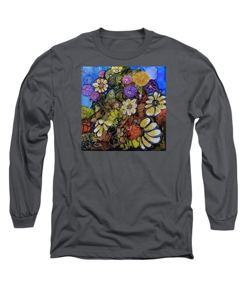 Floral Boquet Long Sleeve T-Shirt by Suzanne Canner