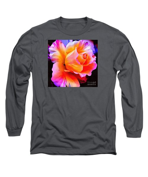 Floral Interior Design Thick Paint Long Sleeve T-Shirt by Catherine Lott