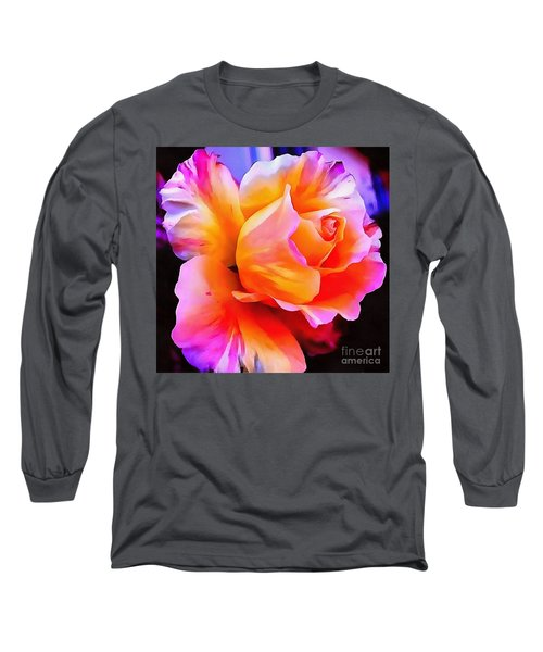 Floral Interior Design Thick Paint Long Sleeve T-Shirt