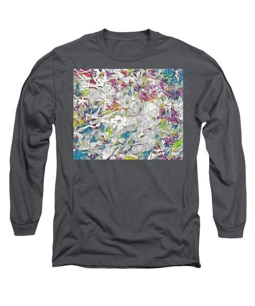 Floral Rainbow Long Sleeve T-Shirt