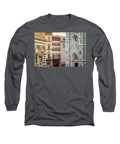 Long Sleeve T-Shirt featuring the photograph Florence Italy View by Joan Carroll