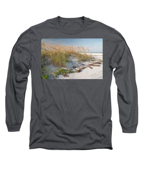 Florida Beach And Sea Oats Long Sleeve T-Shirt