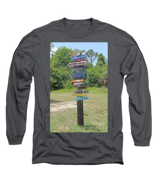 Florida Crossroads 3 Long Sleeve T-Shirt by Dodie Ulery