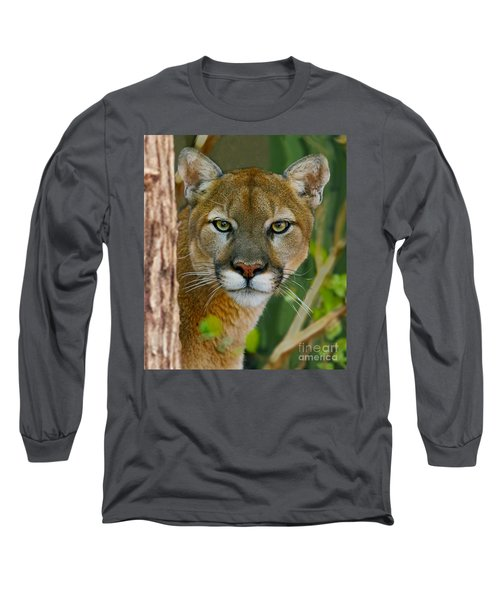 Long Sleeve T-Shirt featuring the photograph Florida Panther by Larry Nieland