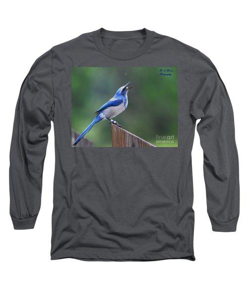 Florida Scrub Jay Eating Long Sleeve T-Shirt