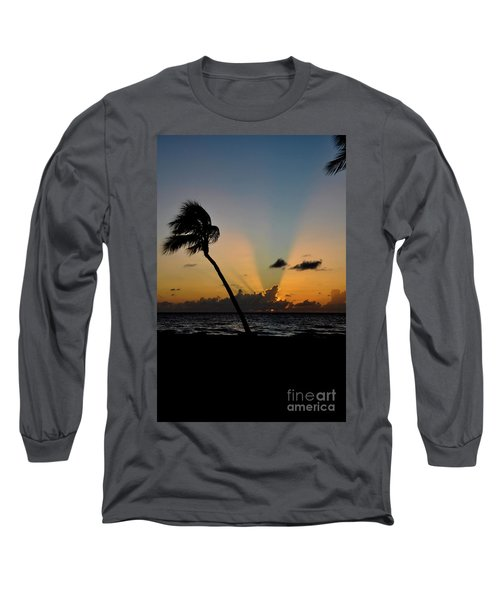 Long Sleeve T-Shirt featuring the photograph Florida Sunrise Palm by Kelly Wade