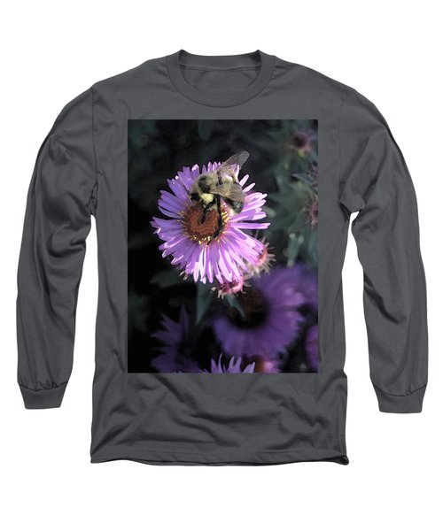 Flower And Bee Long Sleeve T-Shirt