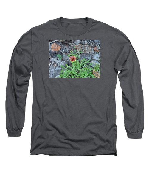 Flower And Lizard Long Sleeve T-Shirt by Kay Gilley