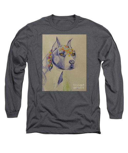Flower Dog 1 Long Sleeve T-Shirt by Hilda and Jose Garrancho