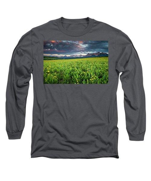Flower Field And Sneffels Range Long Sleeve T-Shirt