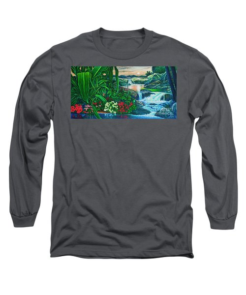 Flower Garden Ix Long Sleeve T-Shirt by Michael Frank