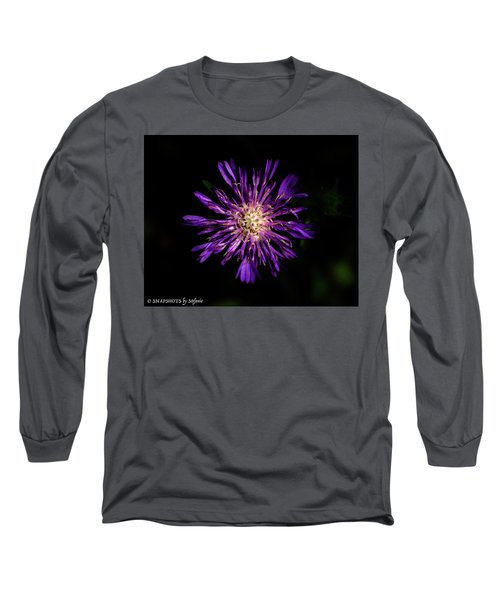 Flower Or Firework Long Sleeve T-Shirt by Stefanie Silva