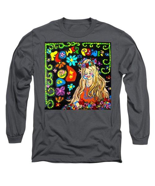 Flower Power Long Sleeve T-Shirt by Barbara O'Toole