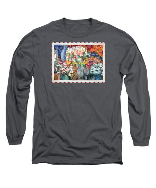 Long Sleeve T-Shirt featuring the photograph Flower Shop Window by Shirley Moravec