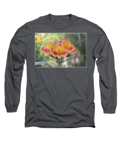 Flower Streaks Long Sleeve T-Shirt