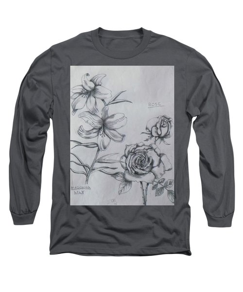 Flower Study 1 Long Sleeve T-Shirt