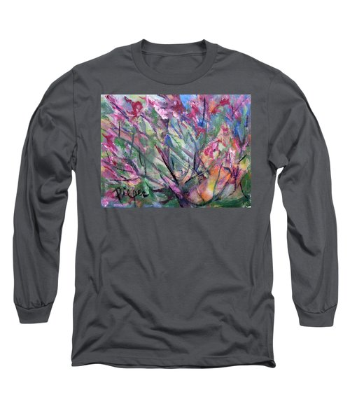 Long Sleeve T-Shirt featuring the painting Flowering by Betty Pieper