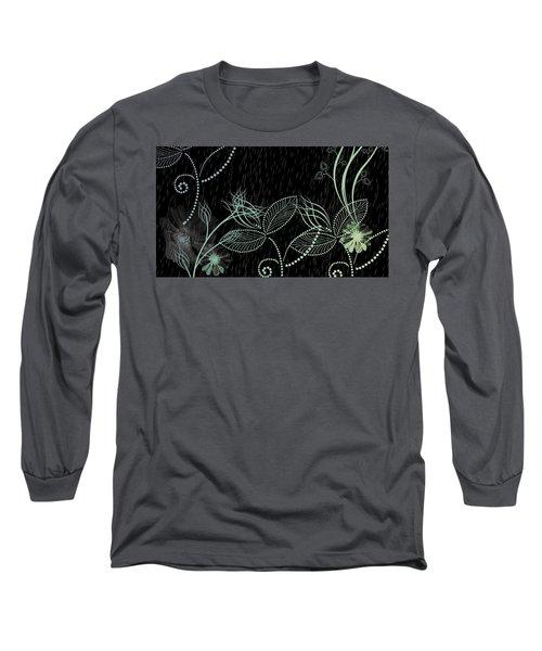 Flowers And Rain Long Sleeve T-Shirt