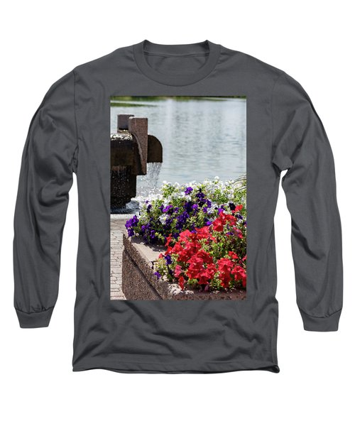 Flowers And Water Long Sleeve T-Shirt