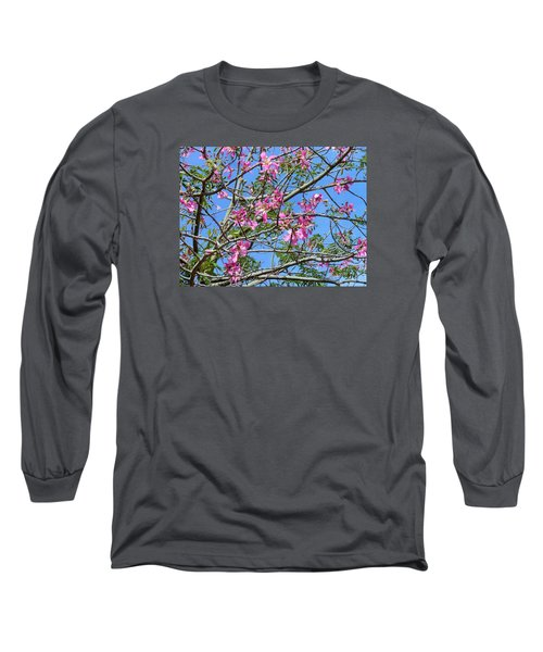 Flowers At Epcot Long Sleeve T-Shirt by Kay Gilley