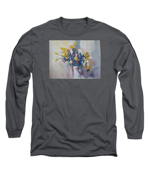 Tulips Flowers Long Sleeve T-Shirt by Khalid Saeed