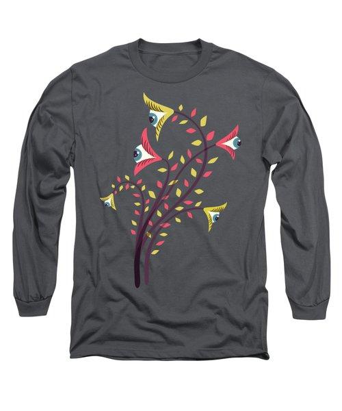 Flowers Of Watching Eyes Long Sleeve T-Shirt