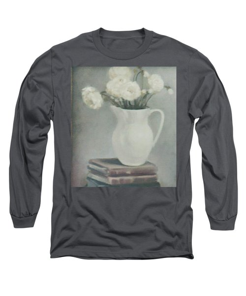 Flowers On Old Books Long Sleeve T-Shirt