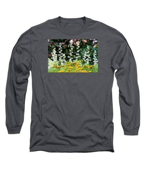 Flowers Sparkling Above The Tansies Long Sleeve T-Shirt