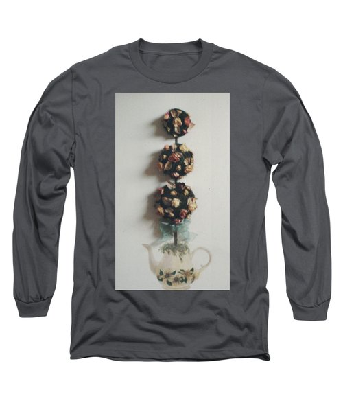 Flowery Teapot Long Sleeve T-Shirt