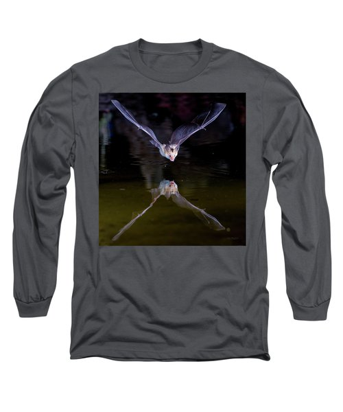 Flying Bat With Reflection Long Sleeve T-Shirt