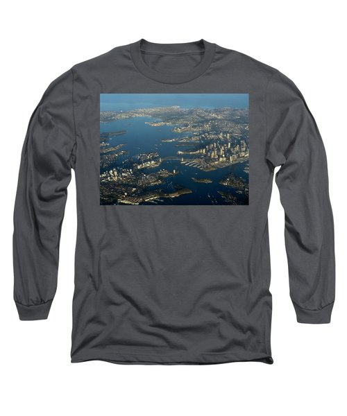 Flying Into Sydney Long Sleeve T-Shirt