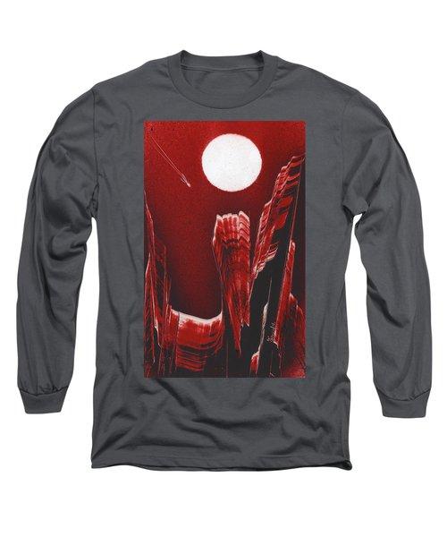 Flying Over Fuchsia Long Sleeve T-Shirt