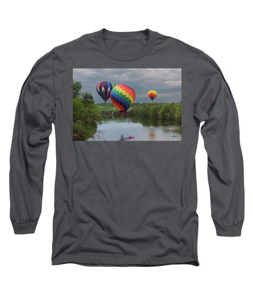 Flying Over The Androscoggin Long Sleeve T-Shirt