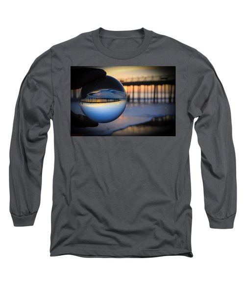 Long Sleeve T-Shirt featuring the photograph Foamy Ball by Lora Lee Chapman