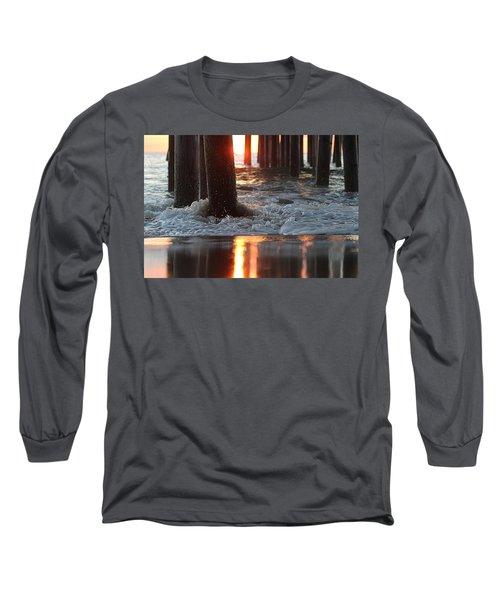 Foamy Waters Under The Pier Long Sleeve T-Shirt