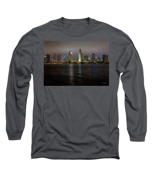 Fog Glow Over San Diego Long Sleeve T-Shirt