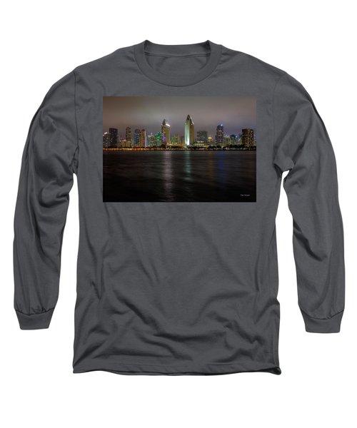 Fog Glow Over San Diego Long Sleeve T-Shirt