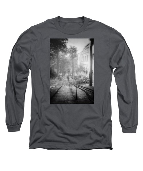 Fog In Montmartre Long Sleeve T-Shirt by John Rivera