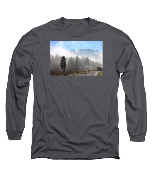 Fog On The Road To Fintry Long Sleeve T-Shirt by RKAB Works