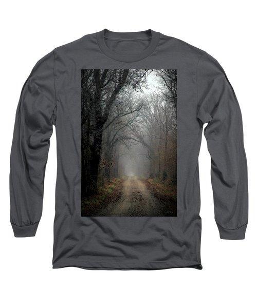 Fog Shrouded Lane  7861 Dp_2 Long Sleeve T-Shirt