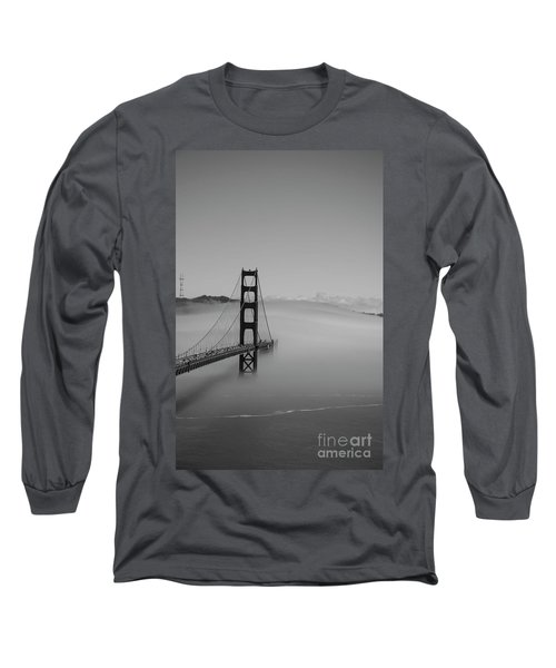 Long Sleeve T-Shirt featuring the photograph Fogging The Bridge by David Bearden