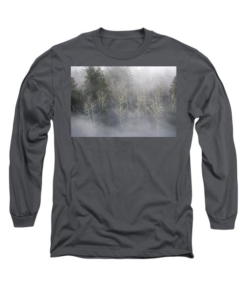 Foggy Alders In The Forest Long Sleeve T-Shirt