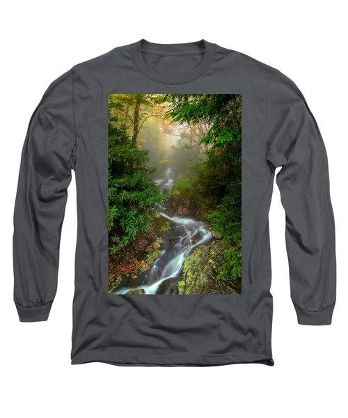 Foggy Autumn Cascades Long Sleeve T-Shirt