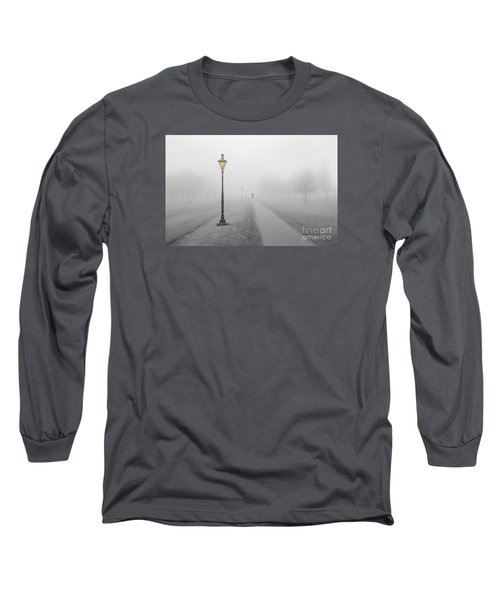 Foggy Day In France Long Sleeve T-Shirt by Jim  Hatch