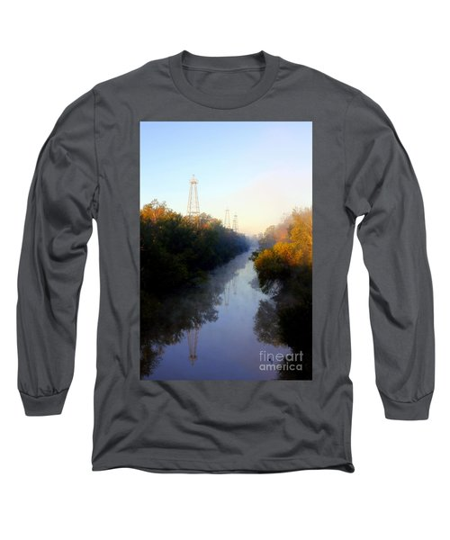 Foggy Fall Morning On The Sabine River Long Sleeve T-Shirt